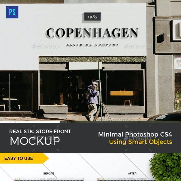 Storefront 3D Sign Logo Mockup