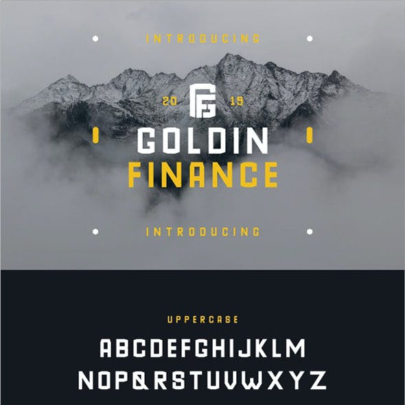 GoldinFinance Geometric Casual Sans Serif