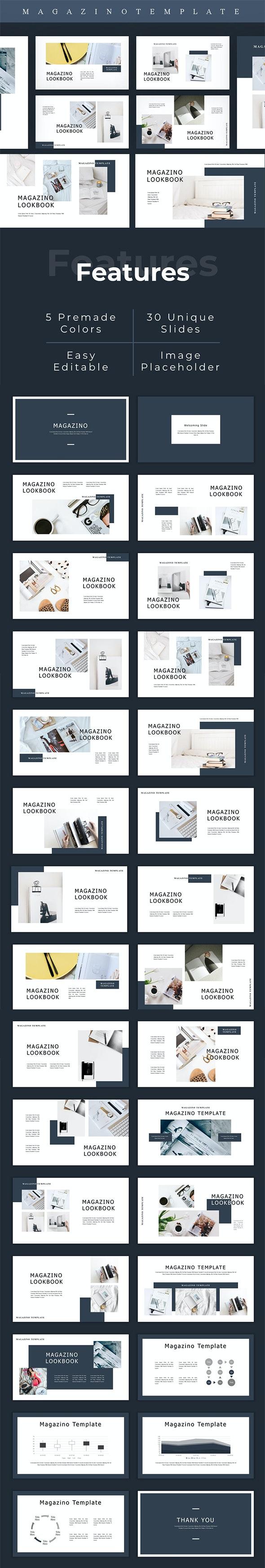 Magazino - Lookbook PowerPoint Template - Creative PowerPoint Templates