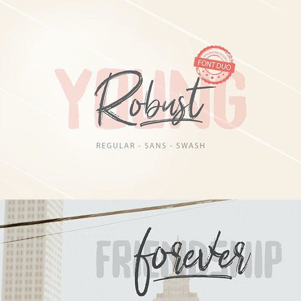 Young Robust Font Duo