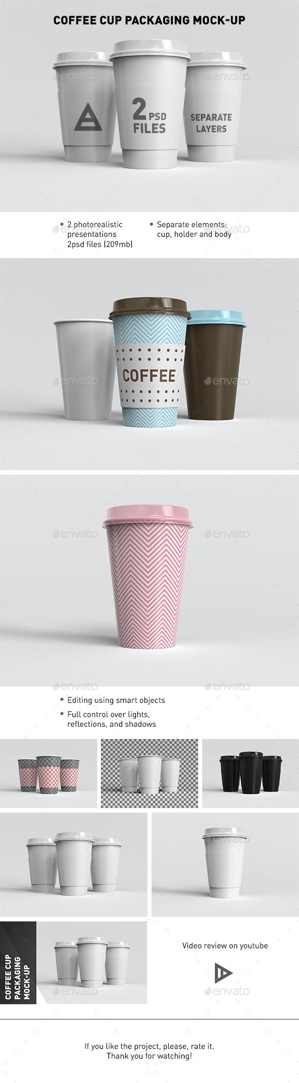 Coffee Cup Packaging Mock-Up - Food and Drink Packaging