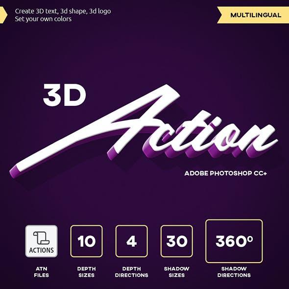 3D Text - Photoshop Action