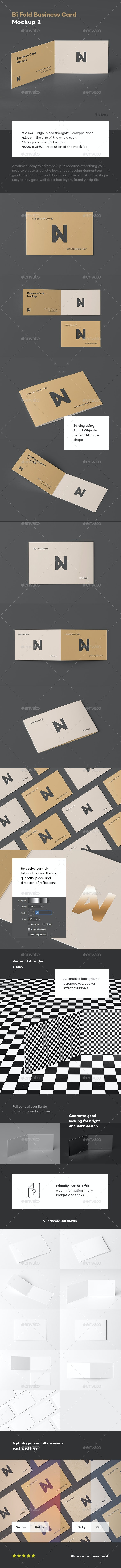 Bi-Fold Business Card Mock-up 2 - Business Cards Print