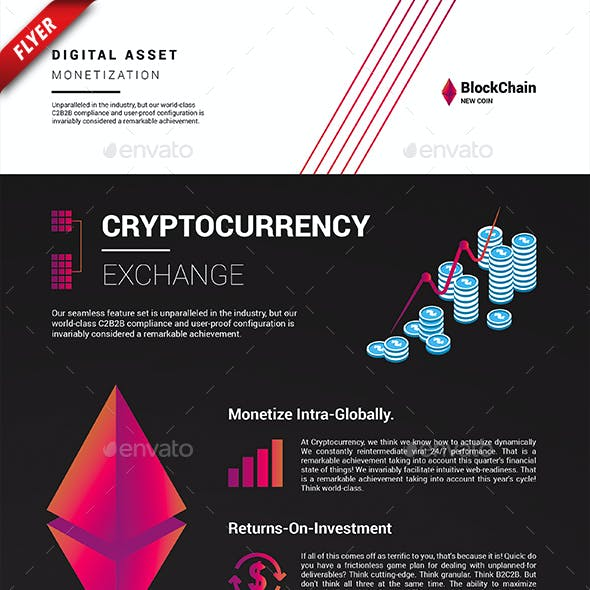 Cryptocurrency Exchange Business Flyer