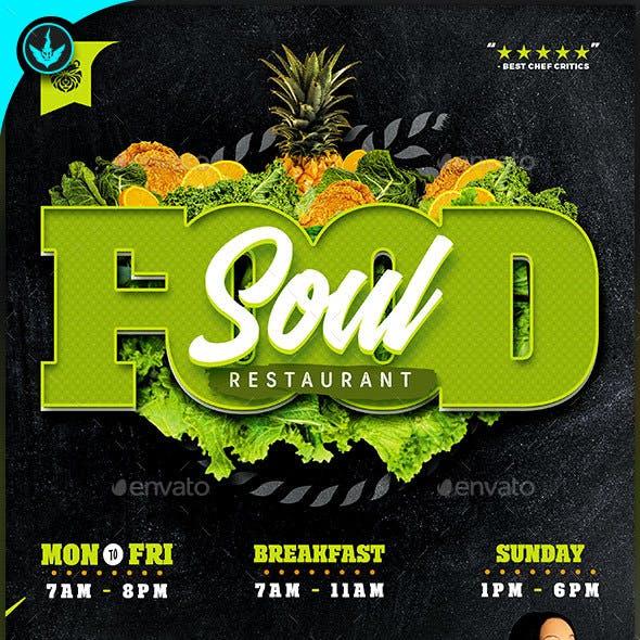 Soul Food Restaurant Menu Flyer Template
