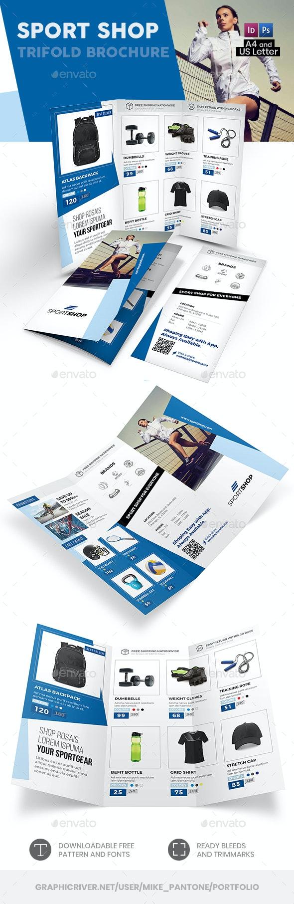 Sport Shop Trifold Brochure 2 - Informational Brochures
