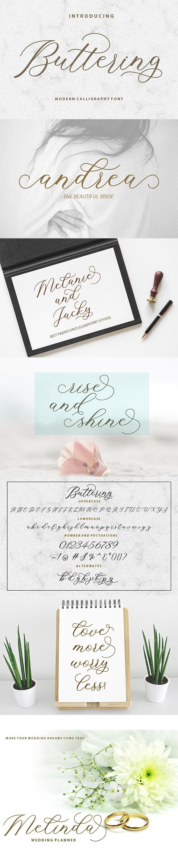 Buttering - Script Fonts