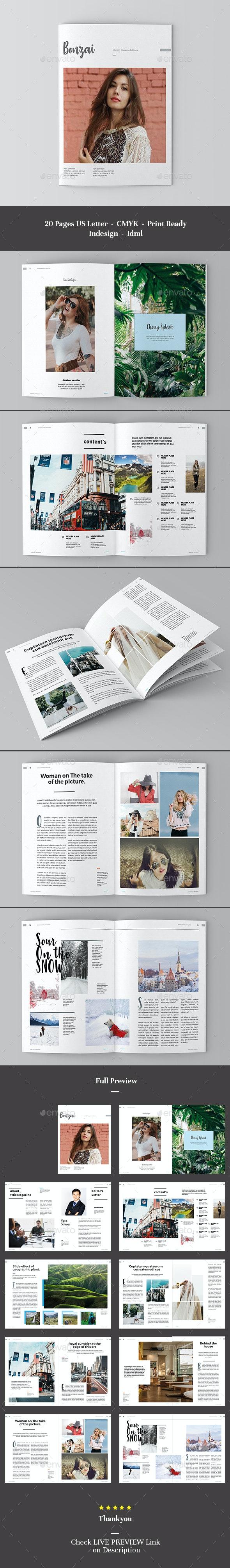 Bonzai Magazine - Magazines Print Templates