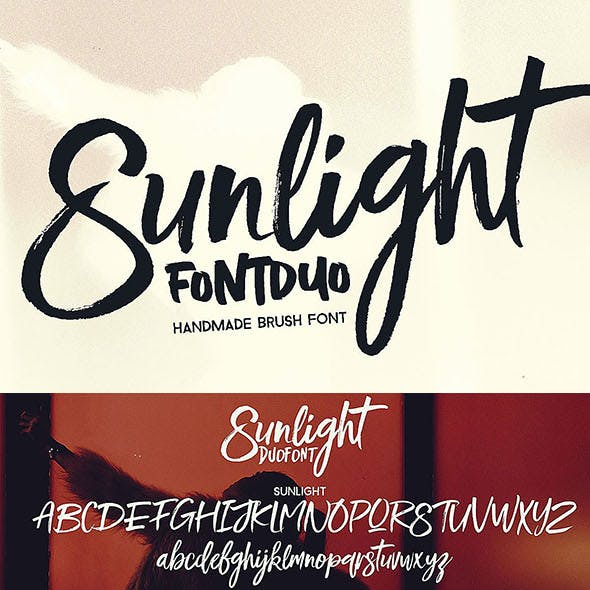 Sunlight - Brush Font Duo