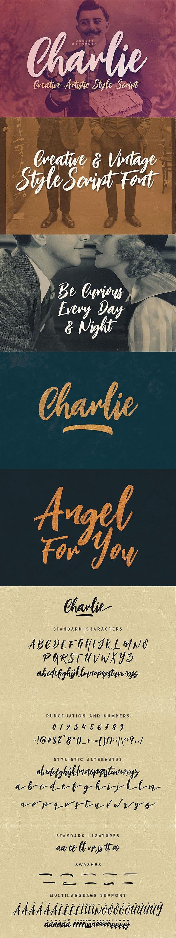 Charlie Script Font - Hand-writing Script