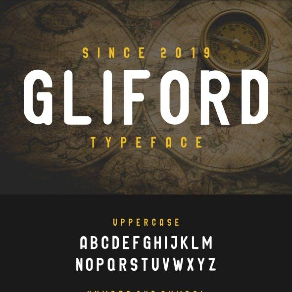 GLIFORD : Retro BOLD Sans Serif