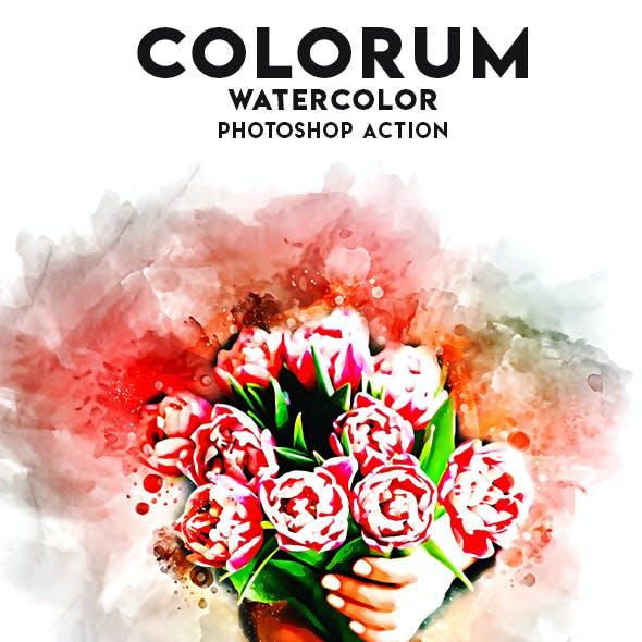 Colorum Watercolor Photoshop Action