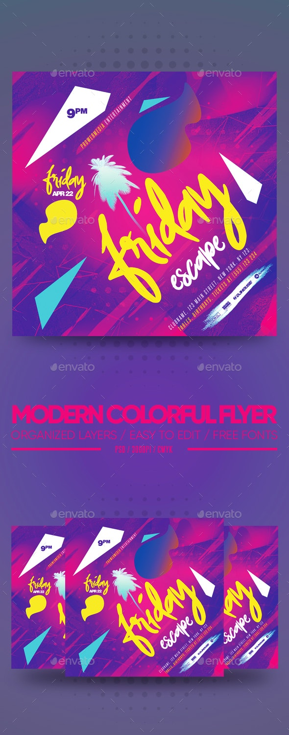 Modern Colorful Flyer - Clubs & Parties Events