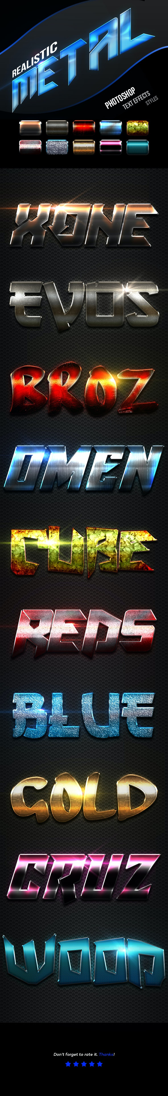 Realistic Metal Text Effects Vol.6 - Text Effects Actions