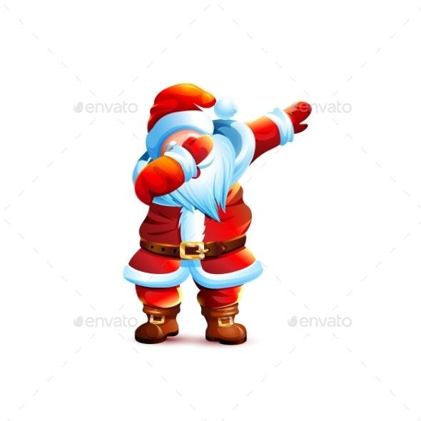 Father Frost Christmas Character Dancing Dab Step - Christmas Seasons/Holidays