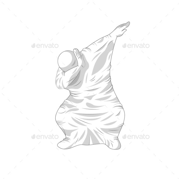 Ghost Specter Character Dancing Dab Step - Miscellaneous Characters