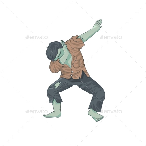 Green Monster Dead Man Character Dancing Dab Step - Miscellaneous Characters