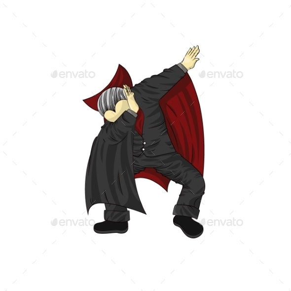 Vampire Character Dancing Dab Step - Miscellaneous Characters
