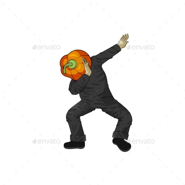 Pumpkin Gourd Vegetable Man Dancing Dab Step - Miscellaneous Characters