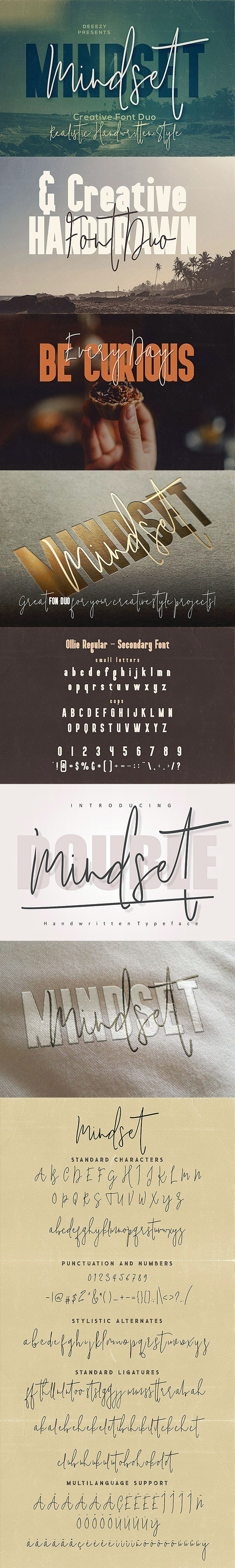 Mindset Font Duo - Hand-writing Script