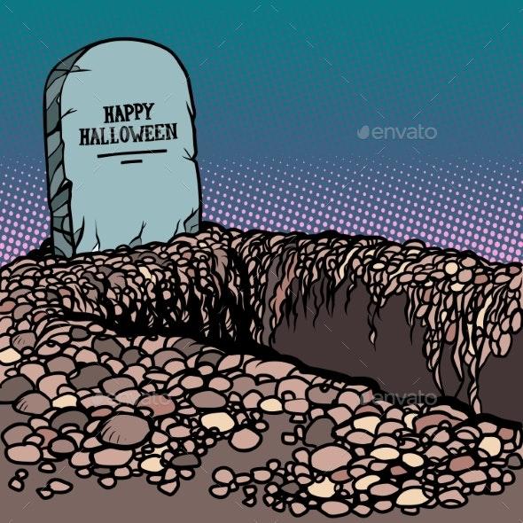 Happy Halloween Grave - Seasons/Holidays Conceptual