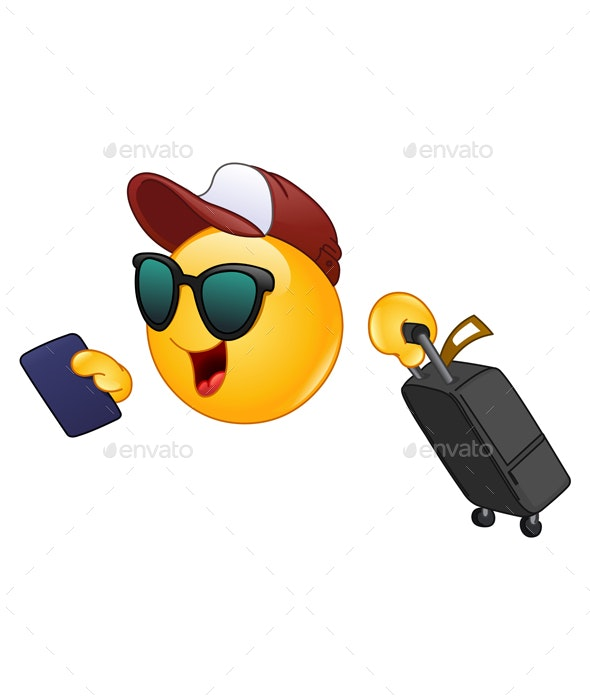 Air Traveler Emoticon - Travel Conceptual