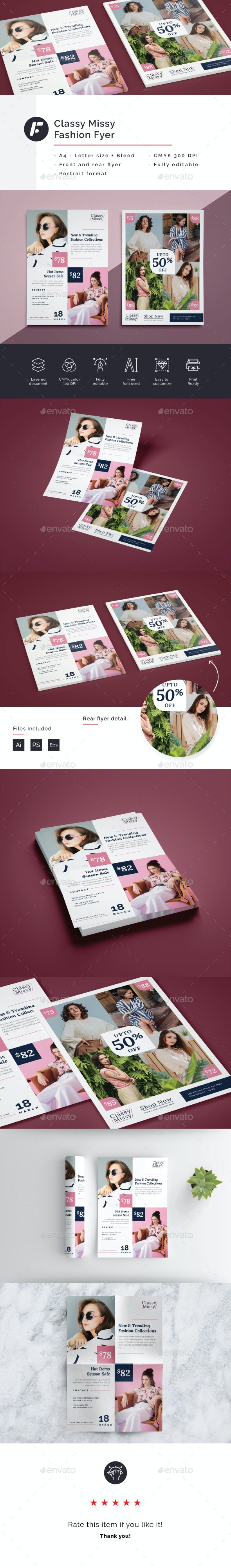Classy Missy - Fashion Flyer Template - Commerce Flyers