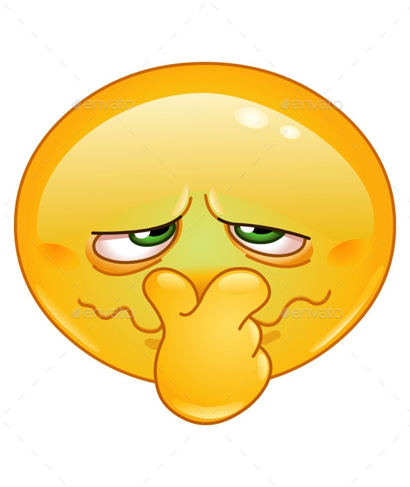 Bad Smell Emoticon - People Characters
