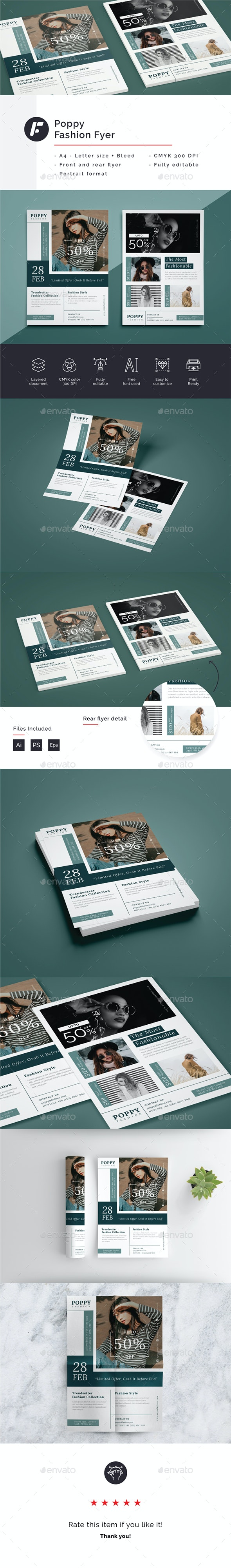 Poppy - Fashion Flyer Template - Commerce Flyers