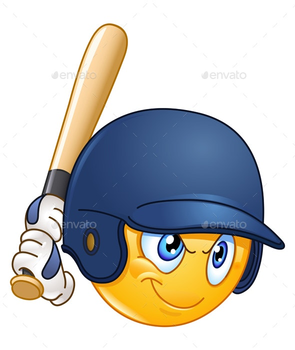 Baseball Batter Emoticon - People Characters