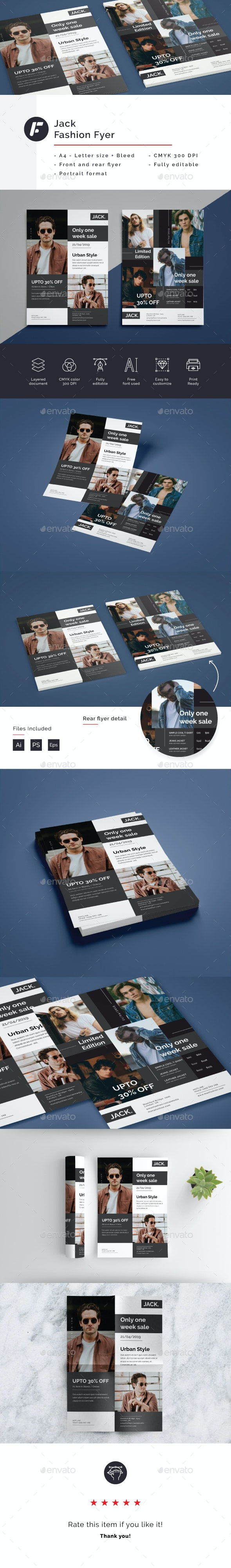 Jack - Fashion Flyer Template - Commerce Flyers