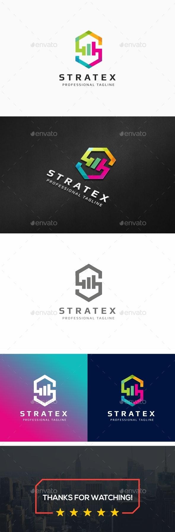 Stratex-S Letter Logo - Letters Logo Templates