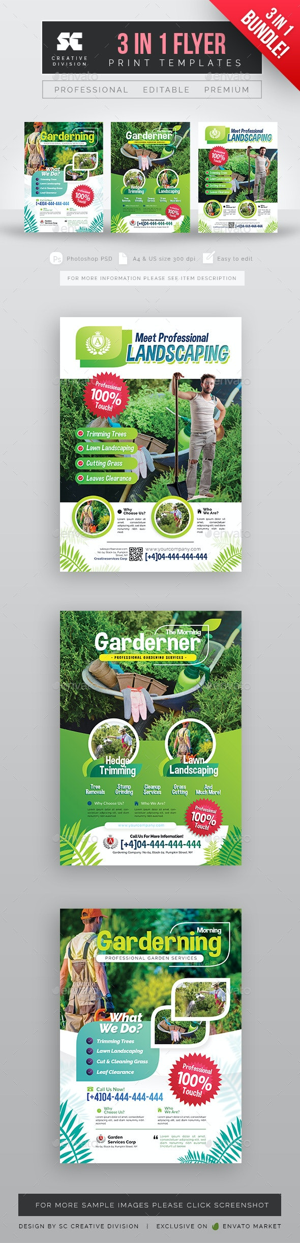 Garden Services Bundle - Flyers Print Templates