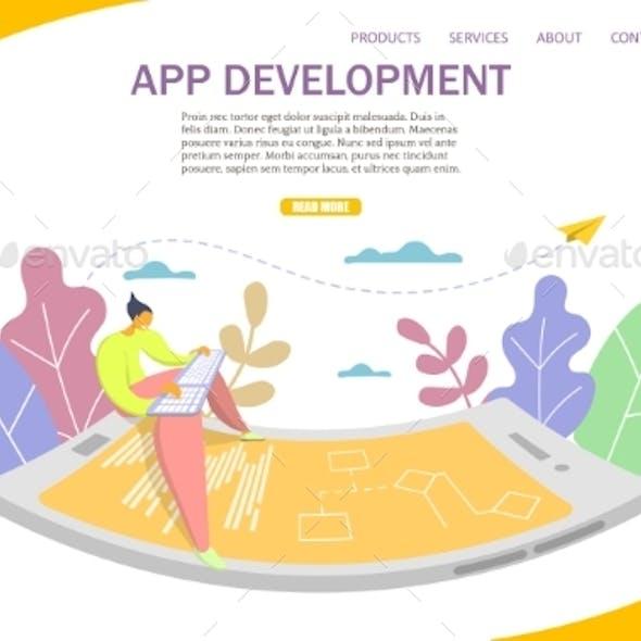 App Development Vector Website Landing Page Design