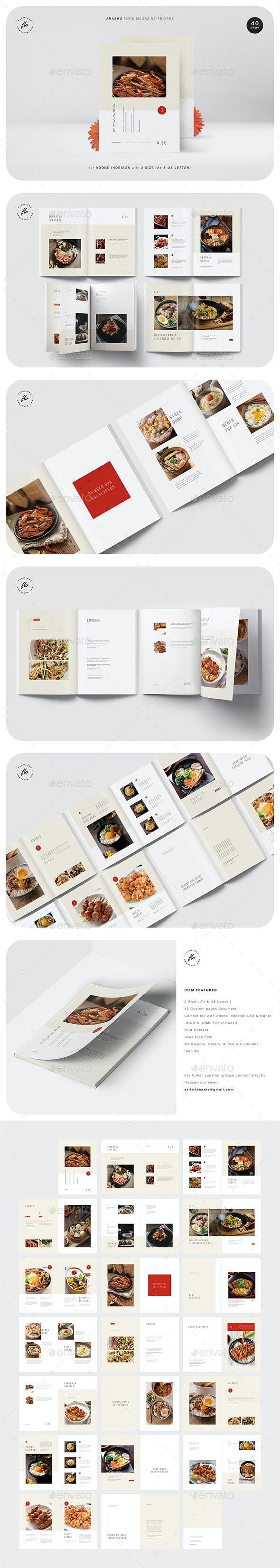 Arashu Food Magazine Recipes - Magazines Print Templates
