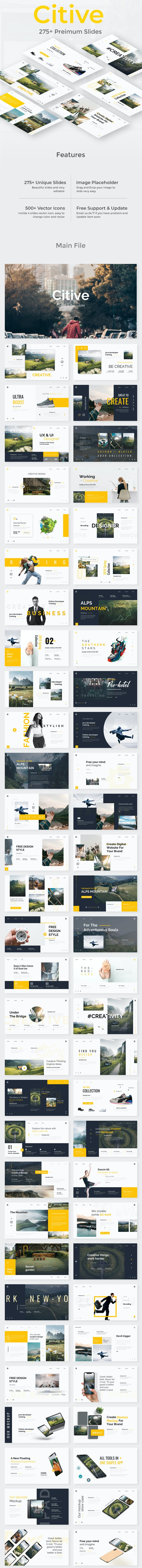 Citive Creative Design Powerpoint Template - Creative PowerPoint Templates