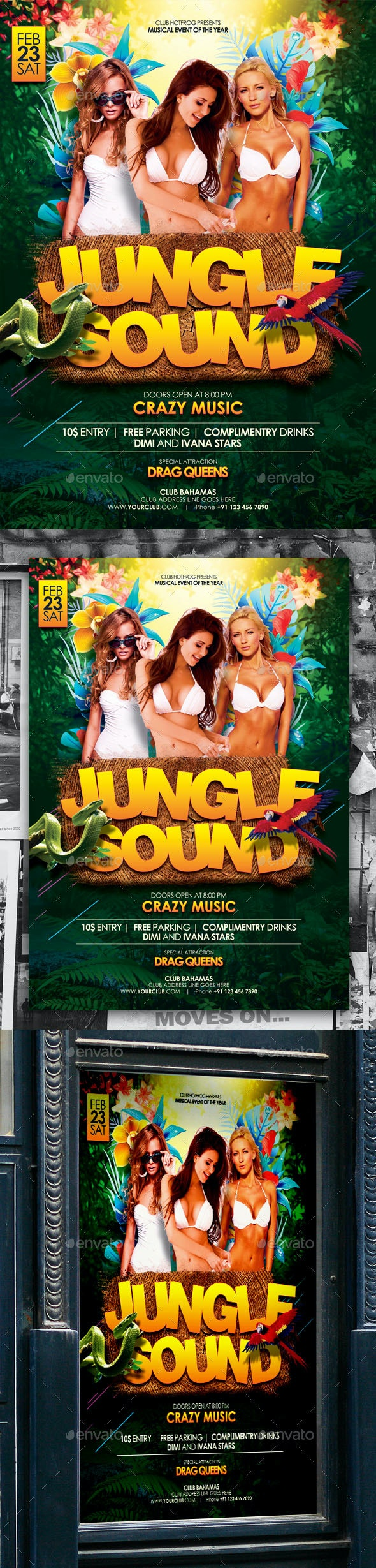 Jungle Party Poster - Events Flyers