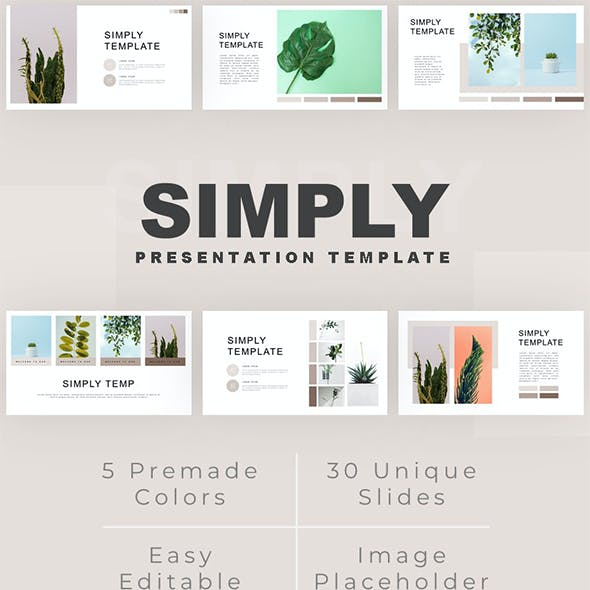 Simply - Minimalist Plant PowerPoint Template