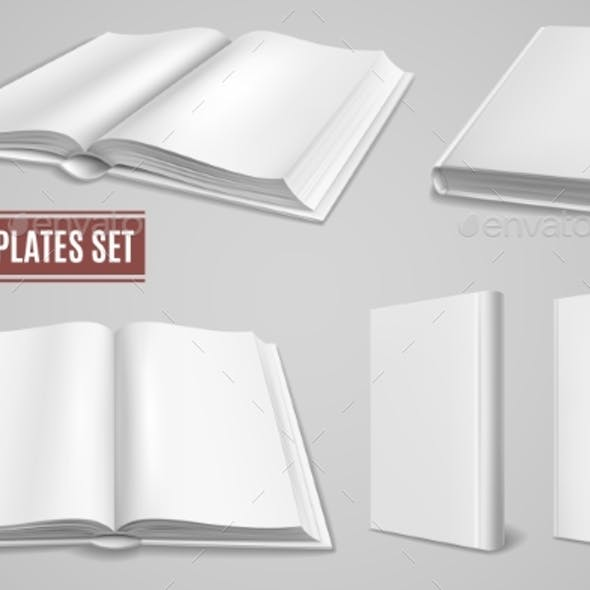 White Blank Book Templates