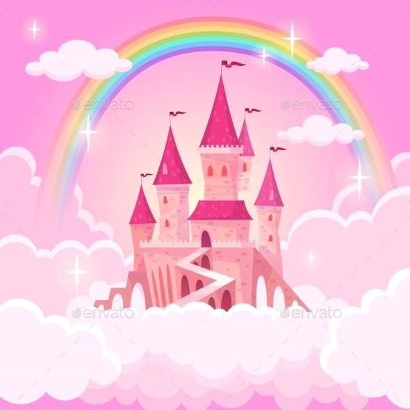 Castle Princess Fantasy Flying Tale Palace