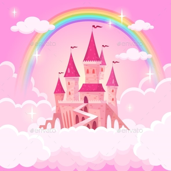 Castle Princess Fantasy Flying Tale Palace - Buildings Objects