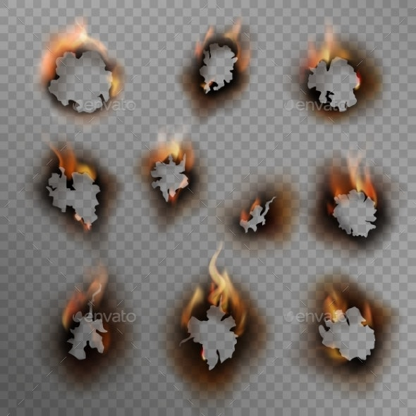 Burnt Holes - Backgrounds Decorative