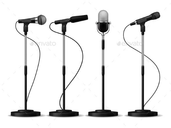Microphones Standing - Man-made Objects Objects