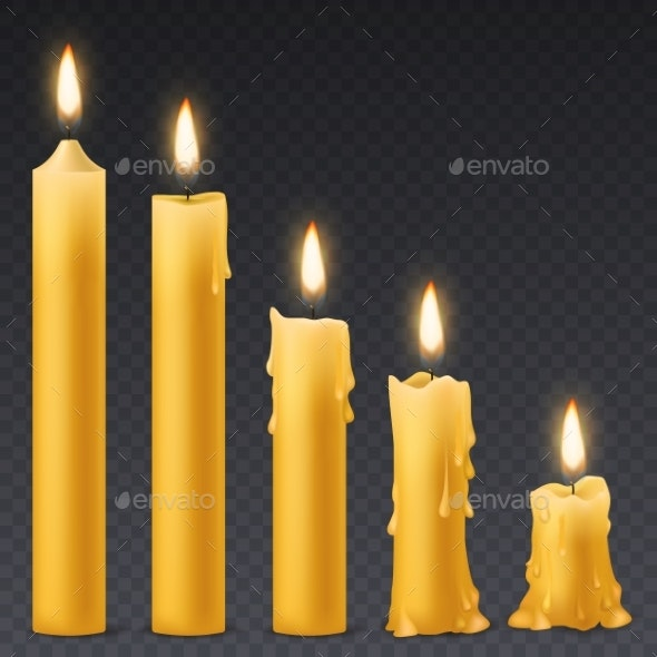 Burning Candles - Miscellaneous Vectors