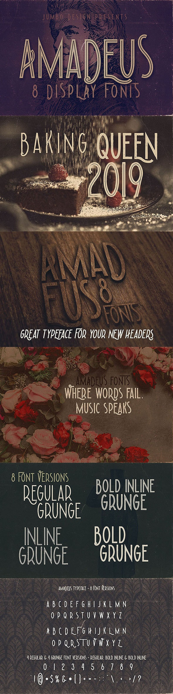 Amadeus - Display Font - Sans-Serif Fonts