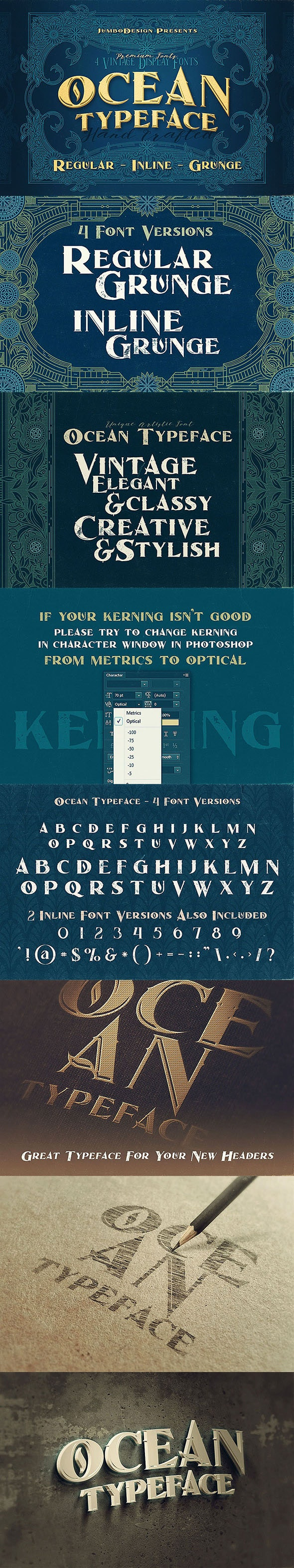 Ocean - Display Font - Decorative Fonts