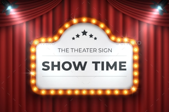 Theater Cinema Sign - Backgrounds Decorative