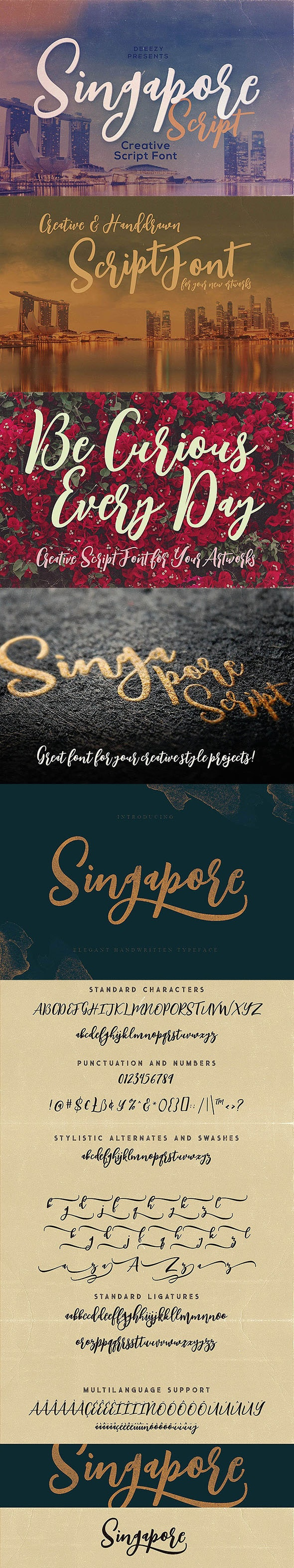 Singapore Script Font - Script Fonts