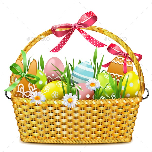 Vector Easter Basket - Miscellaneous Seasons/Holidays
