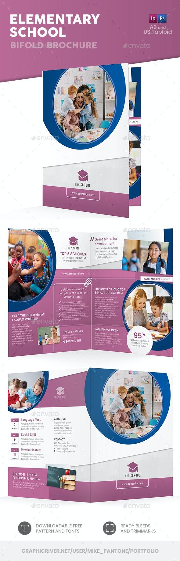 Elementary School Bifold / Halffold Brochure - Informational Brochures